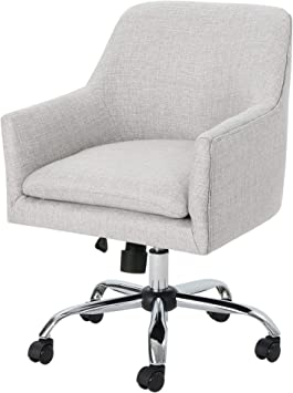Amazon Com Christopher Knight Home Morgan Mid Century Modern Fabric Home Office Chair With Chrome Base Beige Wasabi Furniture Decor