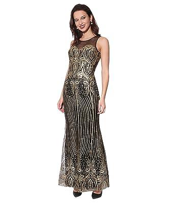 88d785c5f KRISP Vestido Fiesta Largo Plisado Elegante  Amazon.es  Ropa y accesorios