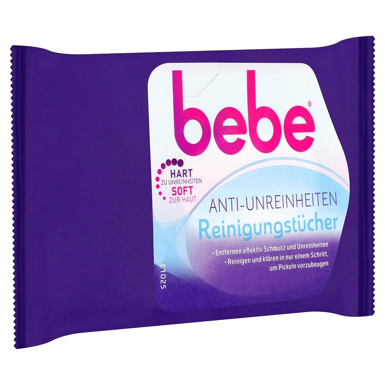 Bebe Anti de impurezas paños de limpieza/toallas suave para la limpieza facial contra acné - sin perfume/3 x 25 unidades): Amazon.es: Belleza