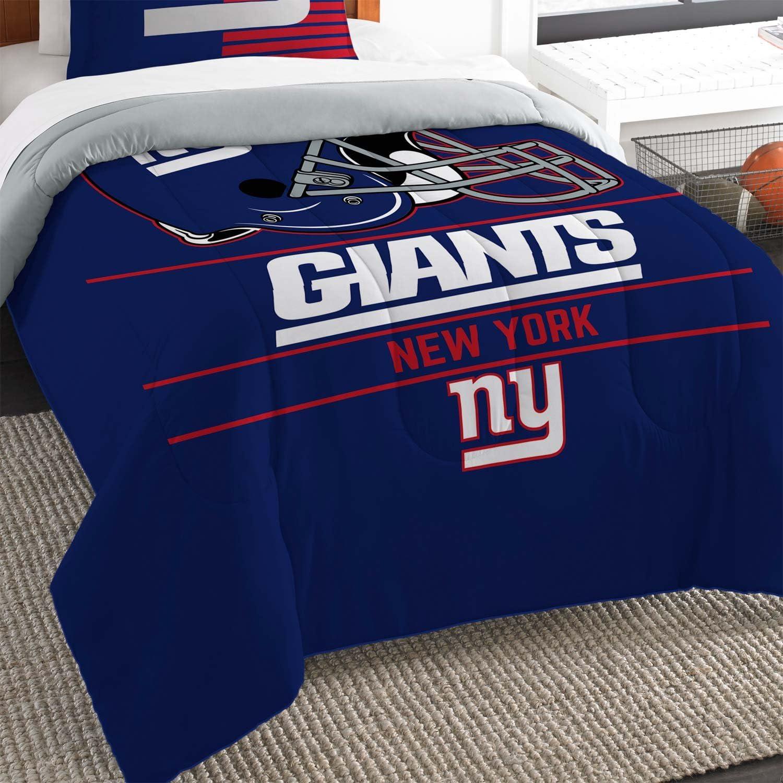 """Northwest New York Giants Twin Comforter Set, Blue, 64"""" x 86"""""""