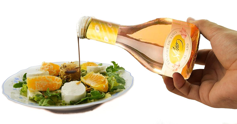 Vinagre de Ajo Gourmet - 250 ml - Vinagre de España de Alta Calidad, Envejecido en Barrica de Roble - Gran Variedad de Ricos Sabores y Aromas Intensos - El ...
