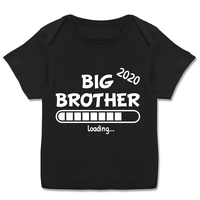 Kurzarm Baby-Shirt f/ür Jungen und M/ädchen Big Brother Loading 2020 Geschwisterliebe Baby