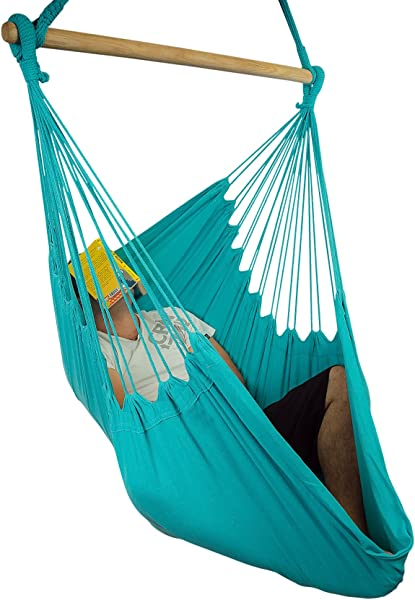 XXL Hammock Chair Swing by Hammock Sky - for Patio, Porch, Bedroom, Backyard, Indoor or Outdoor - Includes Hanging Hardware and Drink Holder