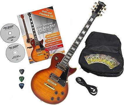 Rocktile Pro L-200HB – Guitarra eléctrica Naranja Honey Burst con ...