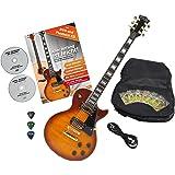 Rocktile Pro L-200OHB E-Gitarre Orange Honey Burst mit Zubehör (Gitarren Gigbag Tasche, Kabel, Plektren, Gitarren Schule mit CD & DVD, Gitarrensaiten)