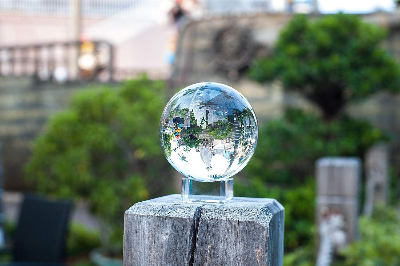 Supremery Sfera di Vetro Fotografia Sfera in Vetro K9 Sfera di Cristallo Decorazione in Cristallo Trasparente con Supporto in Vetro /Ø 100mm Sfera Fotografica con Supporto