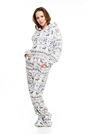 Christmas Kajamaz: Adult Onesie Pajamas (X-Small)