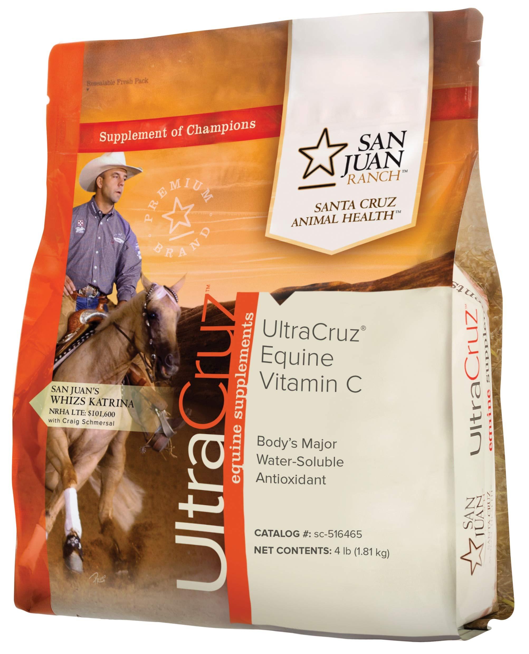 UltraCruz Equine Vitamin C (Ascorbic Acid) Supplement for Horses, 1 lb, Powder (50 Day Supply) by UltraCruz