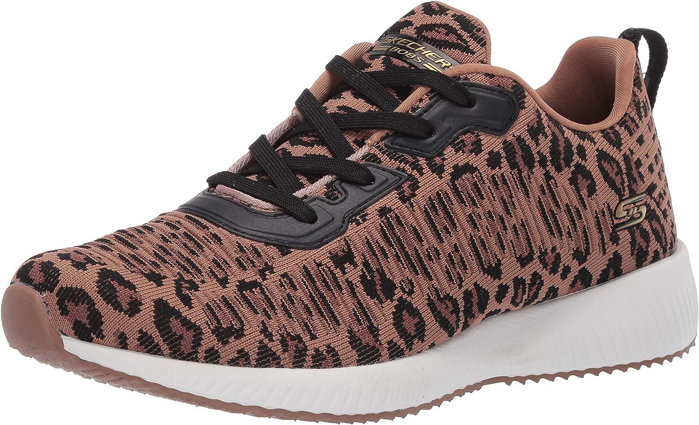 Skechers Women's Bobs Squad-Leopard Sneaker