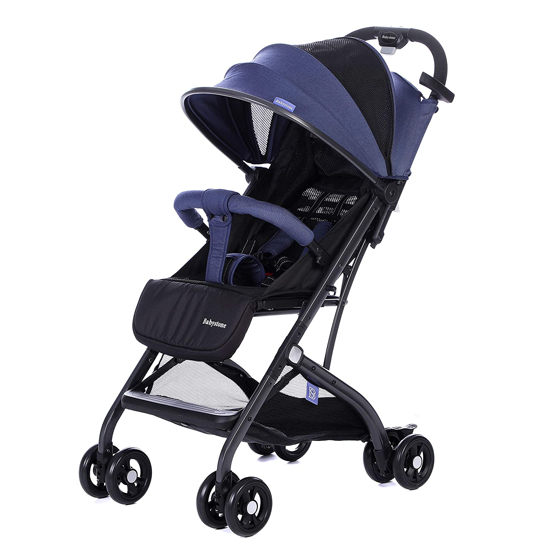 WUBOX Kinderwagen Kinderbuggy Babyjogger Reisebuggy Klappbar Kinderwagen:Blau