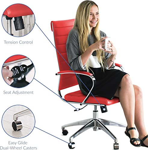 Modway Jive Ribbed High Back Tall Executive Swivel Office Chair