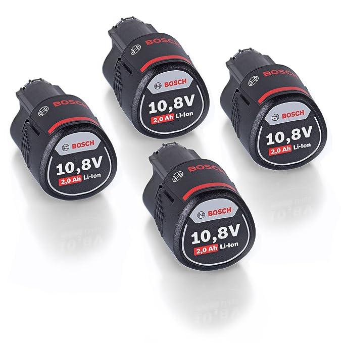 Lot de 4 ! Bosch 1600Z0002X Lot de 4 batteries li-ion pour GSR GDR GOP GWI GSA GLI GSB 10,8 V 2,0 Ah