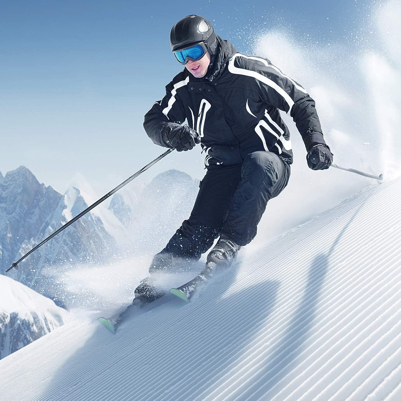 Sportneer Mens Insulated Snow Bibs Overalls Winter Ski Bib for Men Black XXL