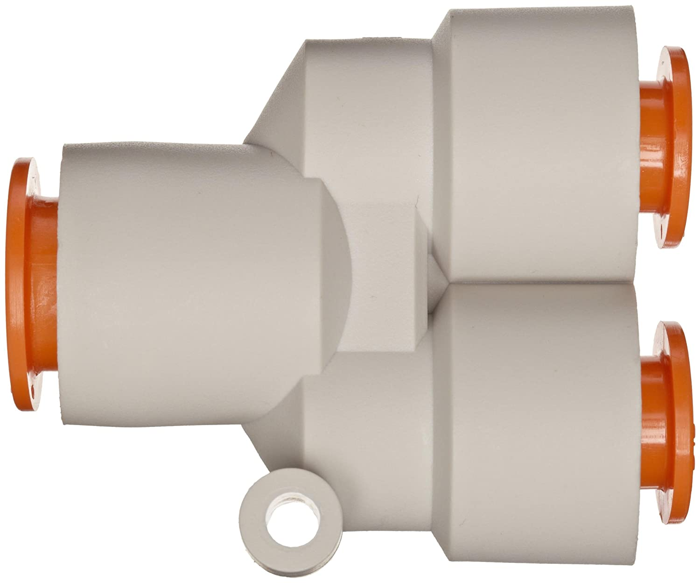 SMC KQ2U09-11A PBT Push-to-Connect Tube Fitting Different Diameter Union Wye 5//16 x 5//16 x 3//8 Tube OD 5//16 x 5//16 x 3//8 Tube OD SMC Corporation of America