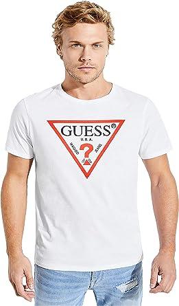 Guess Hombre M74391K5511 Manga Corta Camiseta: Amazon.es: Ropa y accesorios
