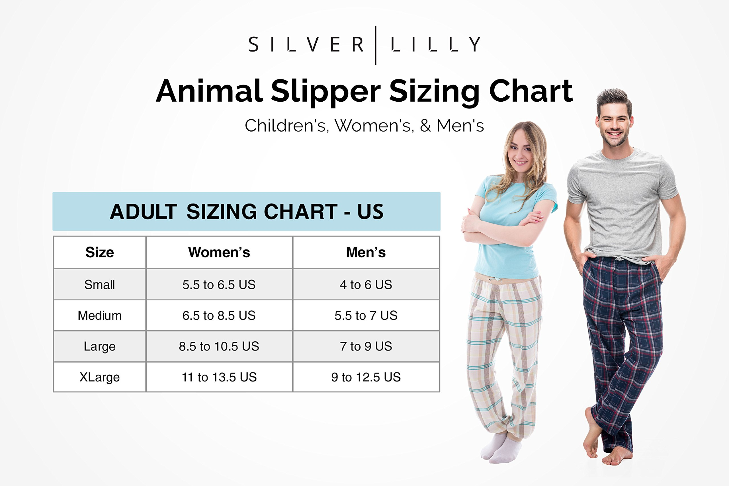 Silver Lilly Flamingo Slippers - Plush Animal Slippers w/Memory Foam Support (Pink, Medium) by Silver Lilly (Image #7)
