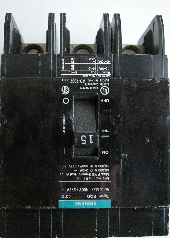 Siemens bqd315 15 amp three pole 480y277v ac 14kaic bolt in breaker siemens bqd315 15 amp three pole 480y277v ac 14kaic bolt in breaker circuit breakers amazon greentooth Images
