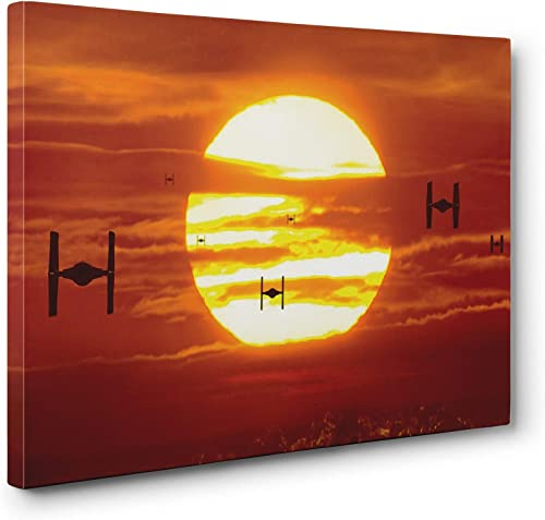OneCanvas Star Wars TIE Fighters Wall Art Gallery Wrapped Canvas Print 24x36in. Large
