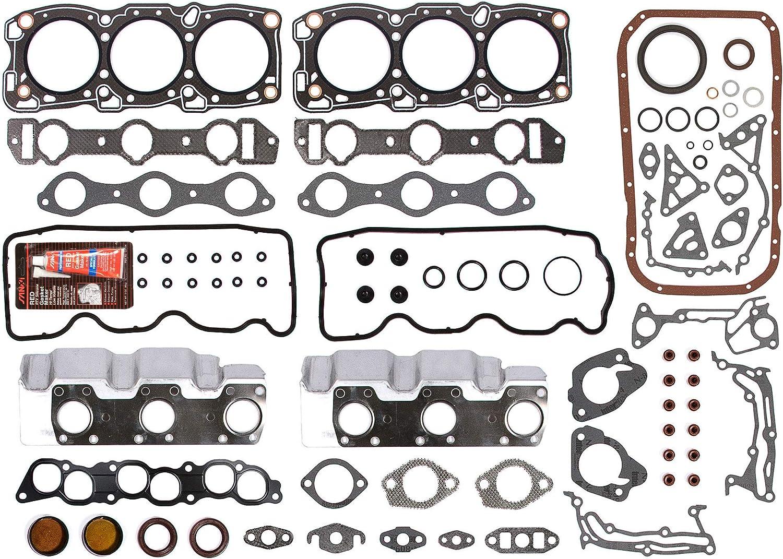 Evergreen OK5013A//2//1//1 Fits 89-93 Dodge Raider Ram 50 Mitsubishi Mighty Max Montero 3.0 V6 6G72 12V Engine Rebuild Kit