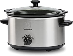 Toastmaster TM-401SC 4-Quart Slow Cooker, Stainless Steel