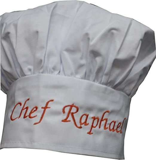 Personalised chefs hat any name text logo custom embroidery chef catering gift