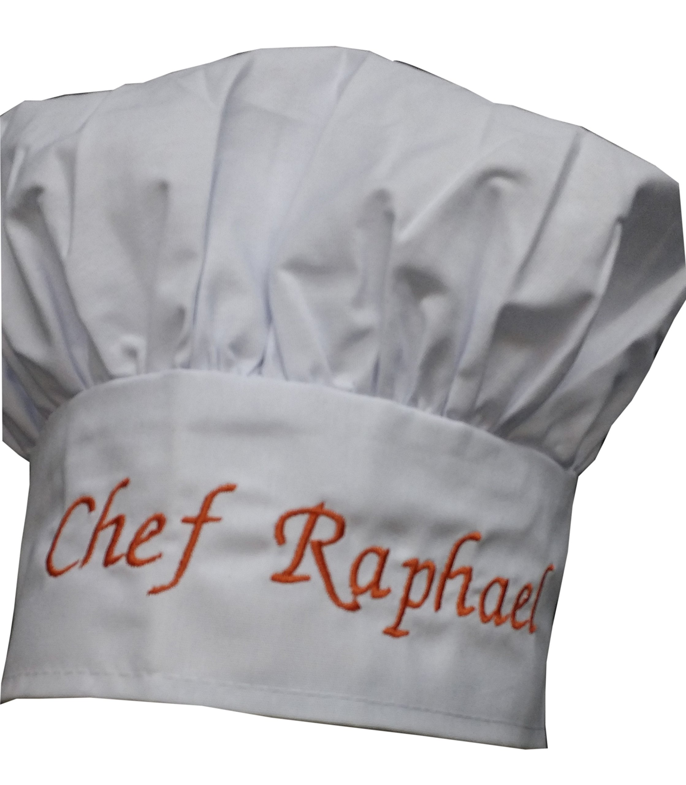 Personalized Chef Hat Custom Name - Size - Color - Font - Thread - Beautiful Makes a Great GIFT KIDS CHILD ADULT