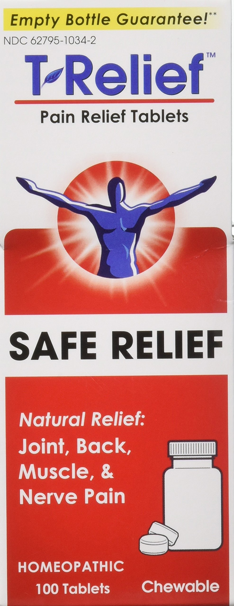 T-Relief Pain Relief 13 Natural Medicines Tablets 100 ea (Pack of 2) by T-Relief