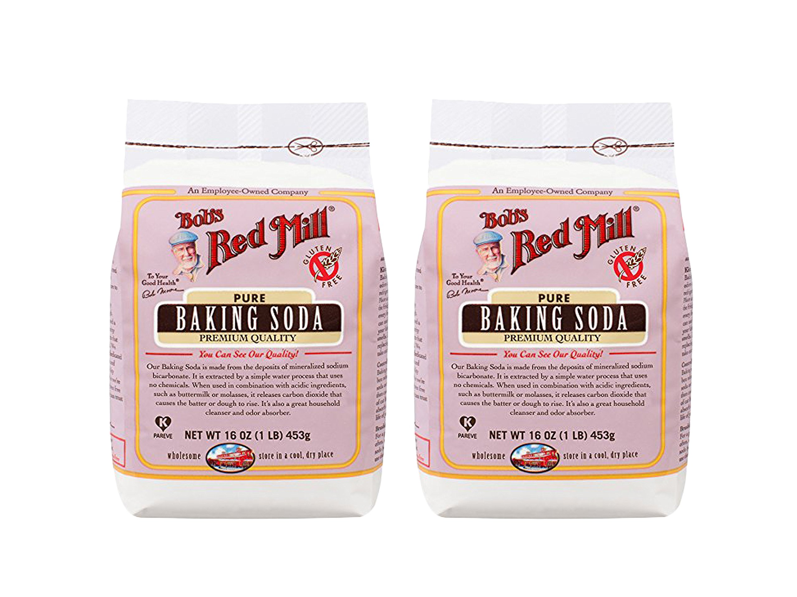 Set of 2 Bob's Red Mill Baking Soda, 16 Ounce bundled by Maven Gifts