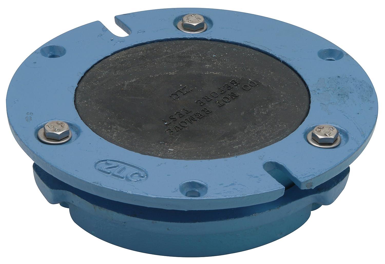 1-3//4 Height 3 Compress-In Connection Zurn CF2982-CI3 Cast Iron Torque Set Closet Flange with Integral Test Cap 7 Diameter