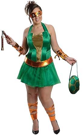 Disfraz de Michelangelo de las Tortugas Ninja para mujer talla ...