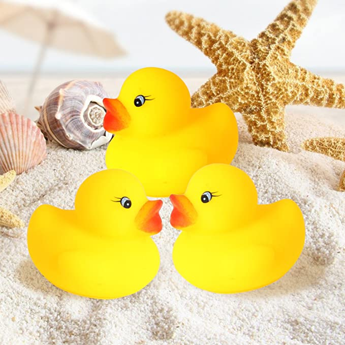 Bath Toys 60pcs Activity & Entertainment Digabi Set of 60 1.4 Mini Yellow Ducks Rubber Bath Toy Pure Natural Cute PVC Rubber Ducky for Baby Kinder Toys