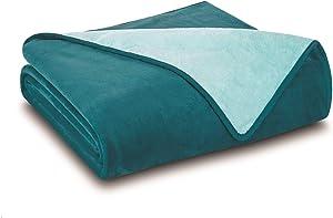 Elite Home All Seasons Plush Reversible Blanket, King, Teal