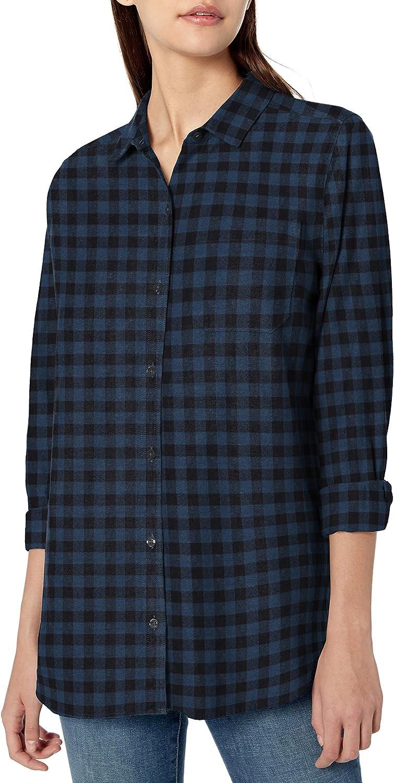 Amazon Brand - Goodthreads Women's Brushed Twill Oversized Boyfriend Shirt