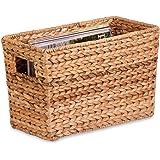 Honey-Can-Do STO-02883 Magazine Water Hyacinth Basket , 15.5 L x 8 W x 10 H