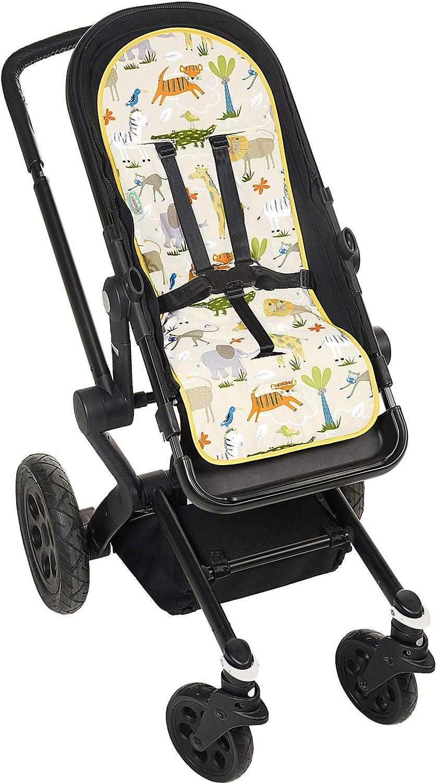 Schonbezug Baumwolle Odenw/älder BabyNest Sitzauflage Design:Rainbow sand waschbar /& atmungsaktiv Universale Sitzeinlage f/ür Kinderwagen und Buggy