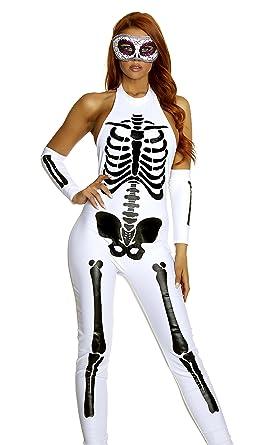sc 1 st  Amazon.com & Amazon.com: Forplay Pure Bones Sexy Skeleton Costume: Clothing