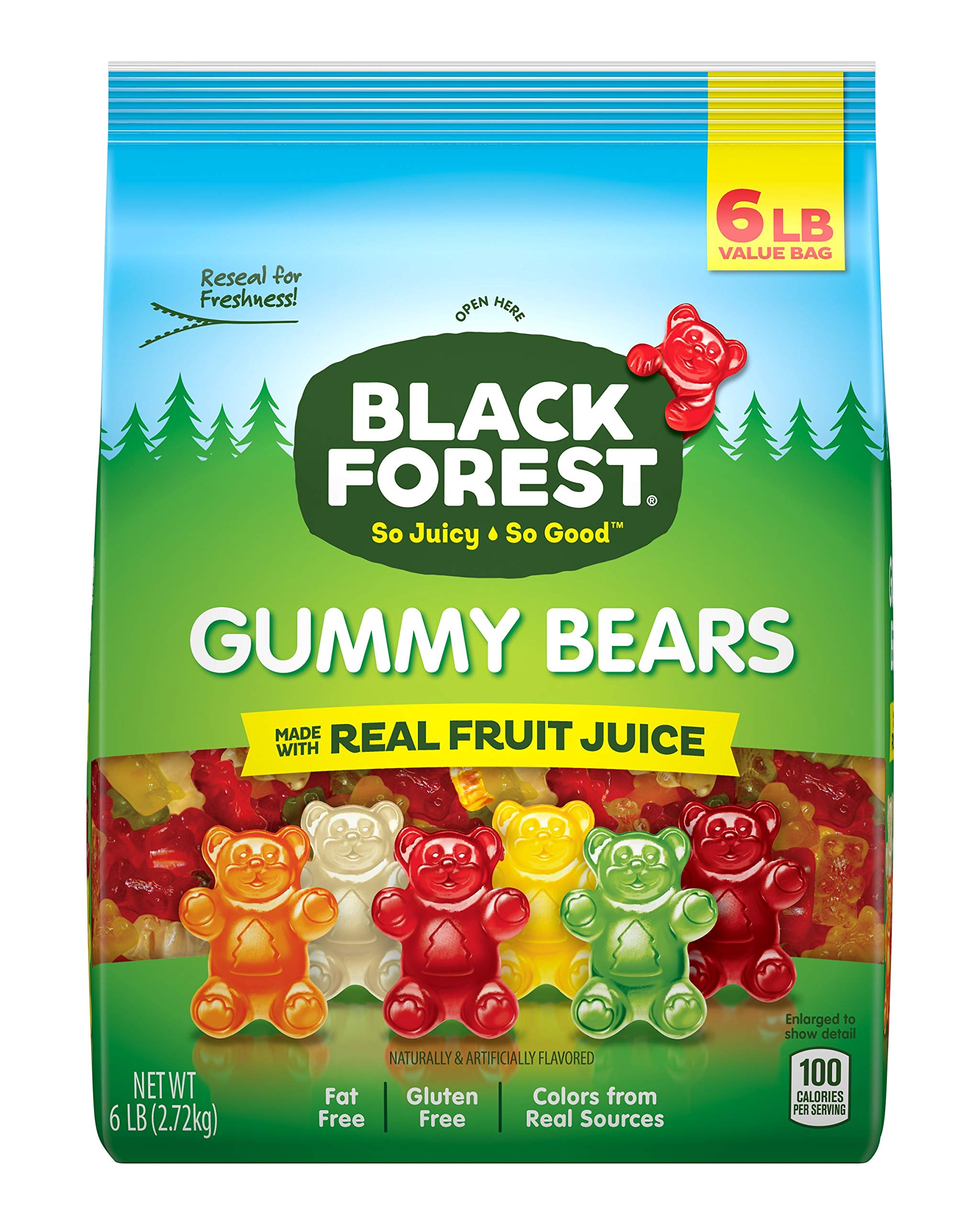 Amazon.com : Black Forest Gummy Bears Ferrara Candy, Natural and ...