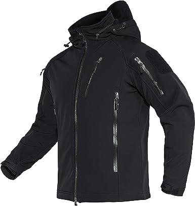 Chaqueta impermeable para hombre con capucha y bolsillos con cremallera TACVASEN