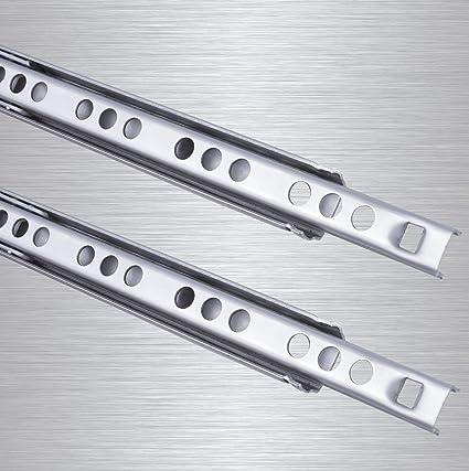 L 278 mm Teleskopschiene Rollenauszug SO-TECH/® Teilauszug Schubladenschiene Schubladenauszug H 27
