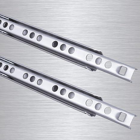Rieles para cajones, 2 unidades, Stahlia Guías de acero con gran estabilidad 10 kg/par