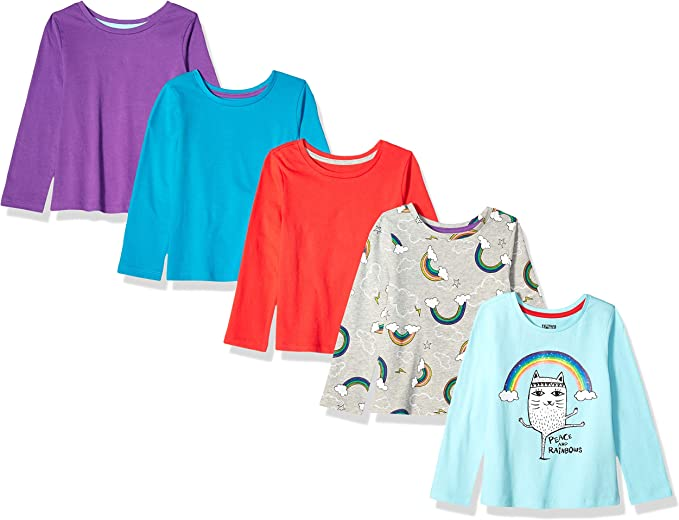 Spotted Zebra 5-Pack Long-Sleeve T-Shirts Bambina