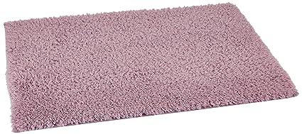 Amazon Brand - Solimo Premium Anti-Slip Microfibre Bathmat - 80cm x 50cm, Dusty Lilac