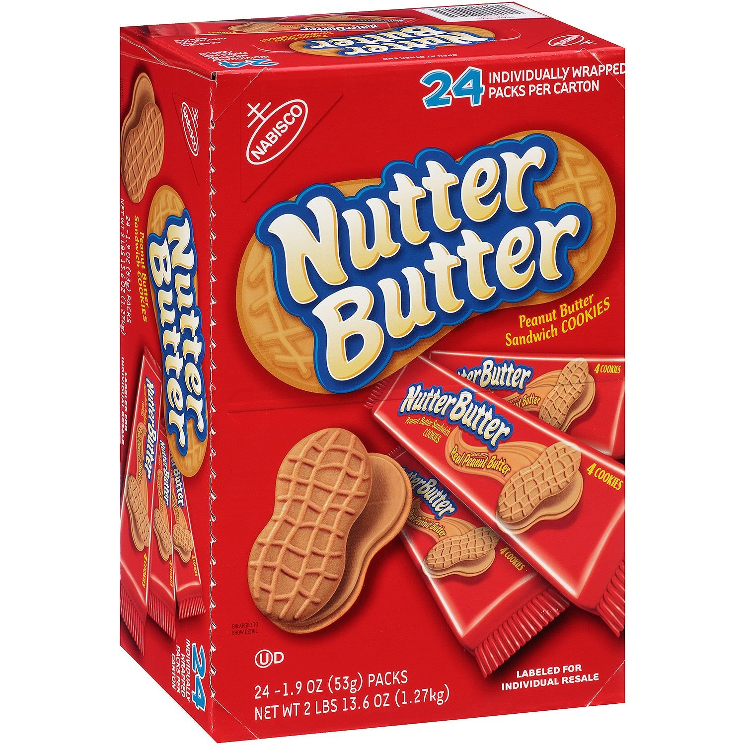 Nabisco Nutter Butter Cookies - 24/1.9 oz. packs by Nabisco