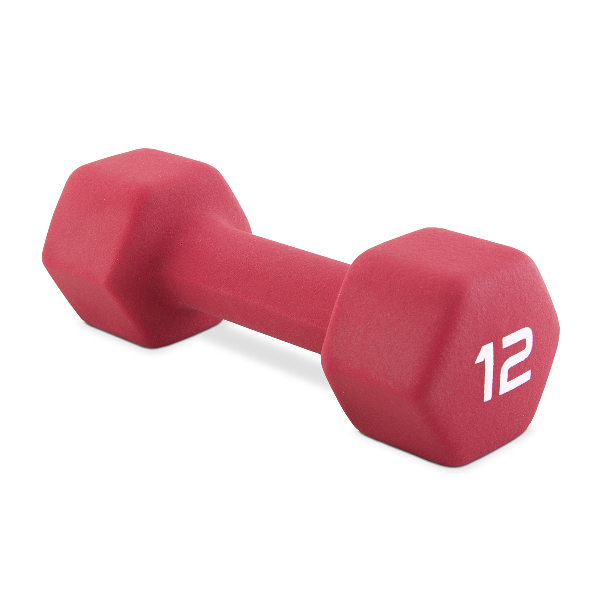 CAP Barbell SDN5-012 Neoprene Coated Dumbbell, Single, 12 lb by CAP Barbell