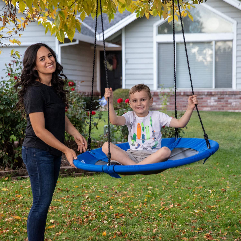 Skipdaloo Saucer Tree Swing for Outside - 40'' Hanging Round Swing for Kids, Easy Install, Steel Frame. by Skipdaloo (Image #6)