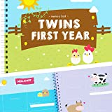 Newborn Twins by Unconditional Rosie - A Beautiful Baby Memory Book for Documenting Your Twin Baby's First Year! Perfect Gift for Moms Having Two Babies! Gorgeous Baby Twin Gifts - Farm Edition