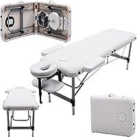 Massage Imperial® Knightsbridge -Table de massage Portable pro luxe - Aluminum - 2 Zones - Couleur : Blanc Ivoire