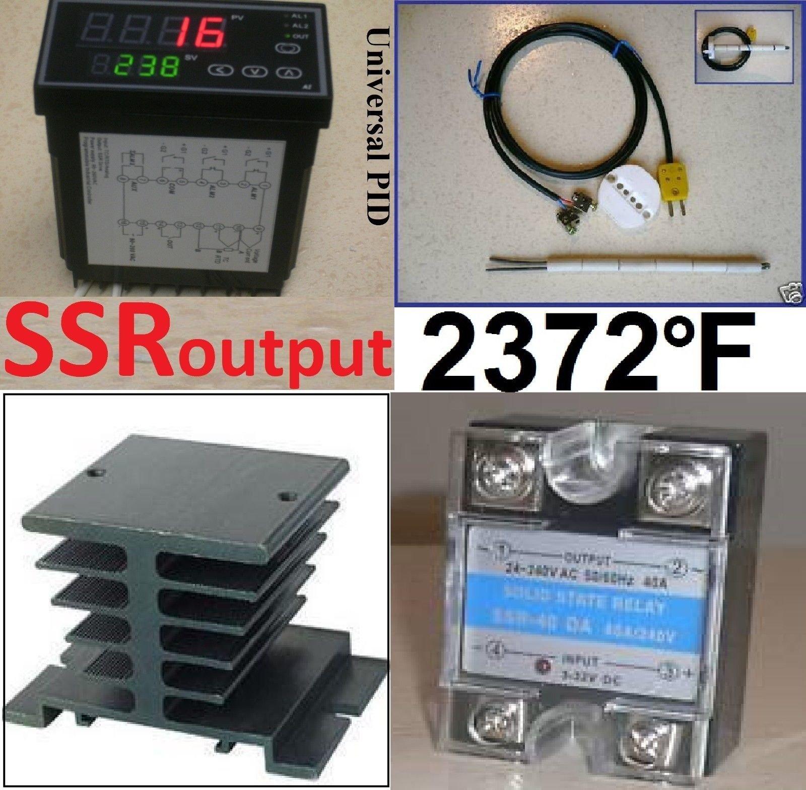 Ramp Soak Temperature Controller Kiln SSR Thermocouple Programmable Control 50S