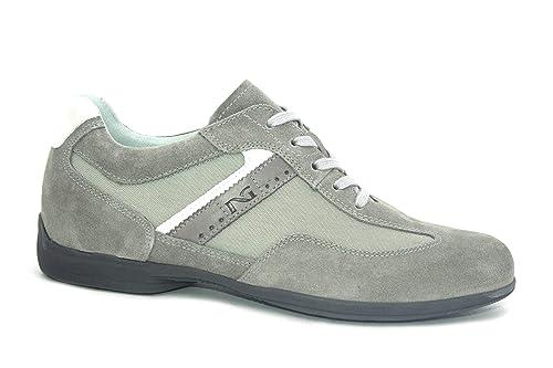 Nero Giardini 00781 Fumo Scarpa Uomo Sneakers Pelle Grigio Made in Italy   Amazon.it  Scarpe e borse 294366ceca0