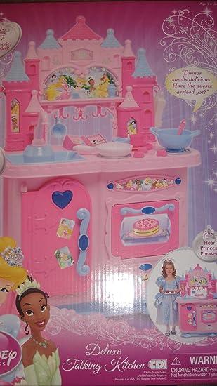 Amazon.com: Disney Princess Deluxe Talking Kitchen: Toys & Games